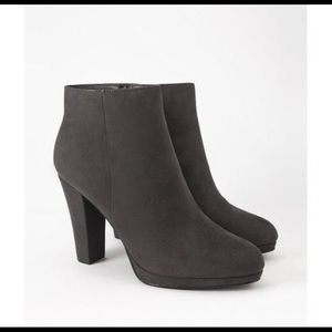 Forever 22 grey faux suede booties